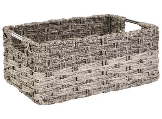 Regalkorb Jandra - Grau, ROMANTIK / LANDHAUS, Kunststoff/Metall (34/14/22cm) - James Wood