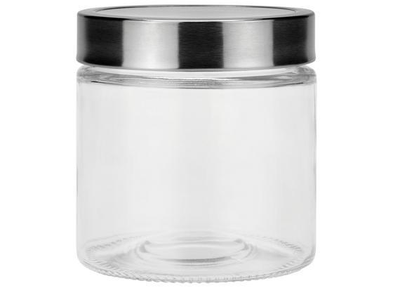 Frischhaltedose Catleen, Gr. S - Klar/Edelstahlfarben, MODERN, Glas/Kunststoff (11/11,5cm) - Luca Bessoni