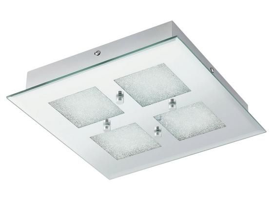 LED-Deckenleuchte Pallante - Klar/Chromfarben, MODERN, Glas/Metall (28/28/4,5cm)