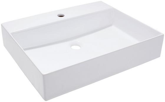 Waschbecken Opus 50 - Weiß, MODERN, Keramik (50/14/42cm)