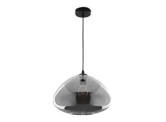 Závesná Lampa Santiago - čierna, Moderný, kov/sklo (30/175cm) - Modern Living