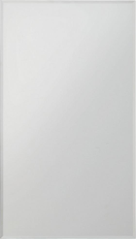 Nástenné Zrkadlo Messina - strieborná, Konvenčný (25/45cm)