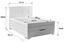 Boxspringbett Madison 140x200 Grau - Chromfarben/Grau, MODERN, Holz/Textil (140/200cm)