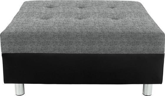 Taburet Linda - černá/tmavě šedá, Moderní, textil (83/44/78cm)