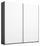 Schwebetürenschrank Belluno 181 cm Grau/ Weiß - Dunkelgrau/Weiß, MODERN, Holzwerkstoff (181/210/62cm)