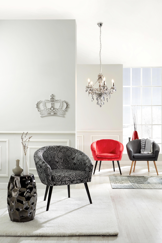Závesná Lampa Isabella - sivohnedá/farby chrómu, Romantický / Vidiecky, umelá hmota/kov (149cm) - MÖMAX modern living