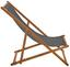 Relaxačné Lehátko Molly - tmavosivá, Moderný, drevo/textil (60/95/98cm) - Modern Living