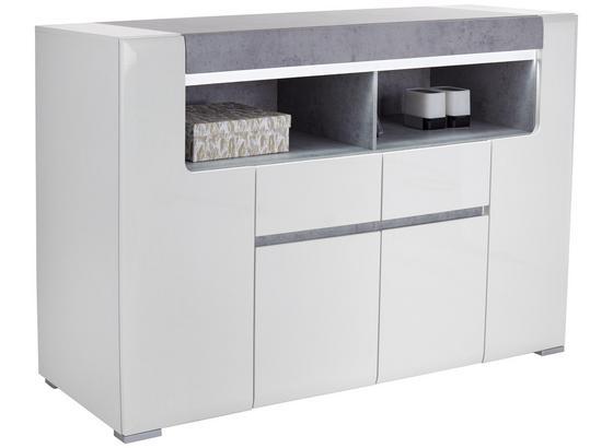 Komoda Highboard Toronto - sivá/biela, Moderný, kompozitné drevo (190/106,9/42,2cm) - Ombra