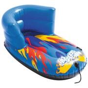 Snowtube Flurryz mit Rückenlehne 84x46cm 39057 - Blau/Gelb, MODERN, Kunststoff (46/84cm) - Bestway