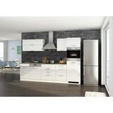 Küchenblock Mailand Gsp B: 300 cm Weiß - Eichefarben/Weiß, Basics, Holzwerkstoff (300cm) - MID.YOU