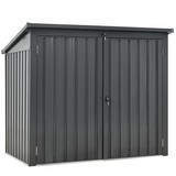 Gartenabfallsack Mülltonnenbox - Anthrazit, Basics, Metall (158/134/101cm)