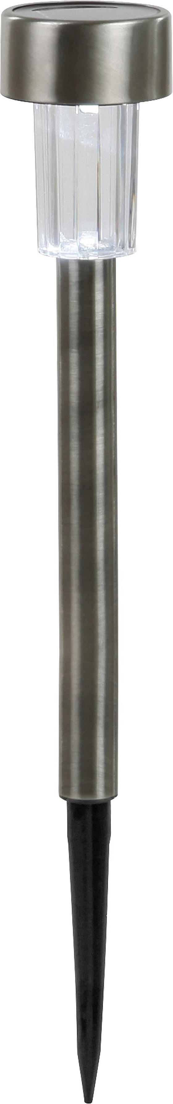 Solarleuchte Leo - Silberfarben, KONVENTIONELL, Kunststoff/Metall (5,5/36,5cm) - Homezone