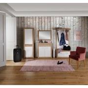 Garderobenkombination Malta San Remo 3 - Eichefarben/Weiß, MODERN, Holzwerkstoff (255/197/36cm)
