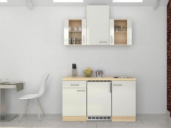 Küchenblock Abaco 150cm Perlmutt - Perlmutt/Akaziefarben, MODERN, Holzwerkstoff (150/60cm)