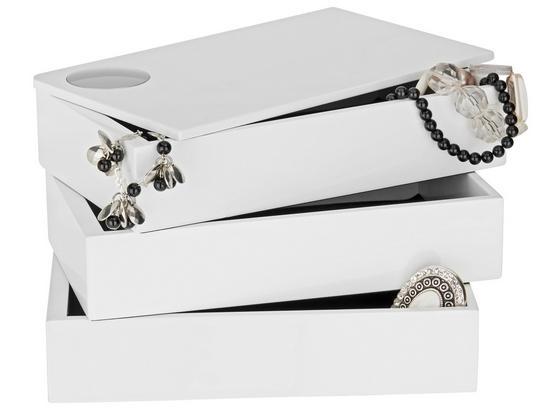 Krabička Na Šperky Joris - biela, Moderný, kompozitné drevo (19,1/12,9/11,8cm) - Mömax modern living