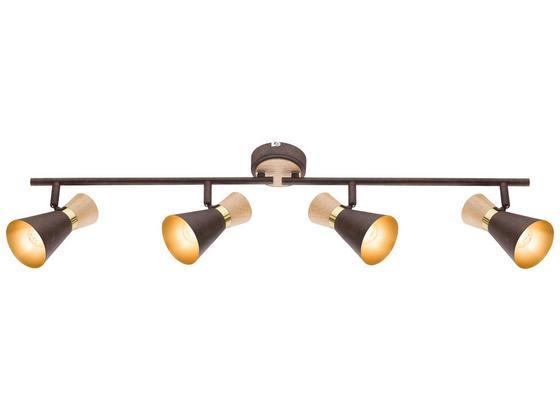 Spotleuchte Rada - Rostfarben/Goldfarben, MODERN, Holz/Metall (80/16cm)