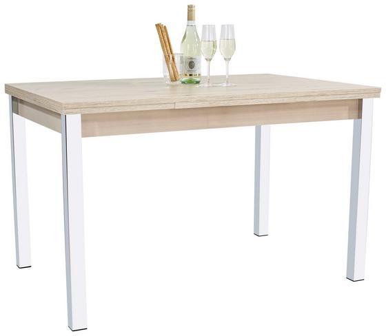 Výsuvný Stůl Berlin I - barvy dubu/barvy chromu, Konvenční, kov/dřevěný materiál (120/74/80cm)