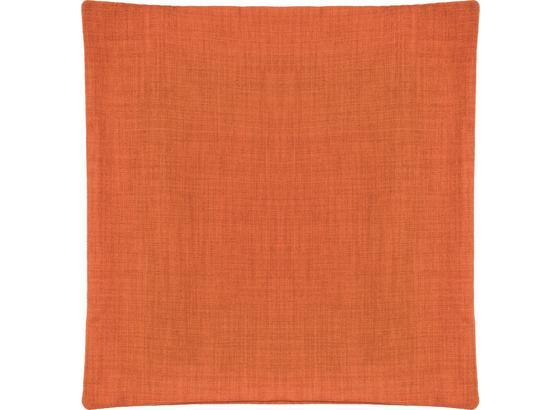 Poťah Na Vankúš Vzhľad Ľanu - oranžová, Konvenčný, textil (50/50cm) - Mömax modern living