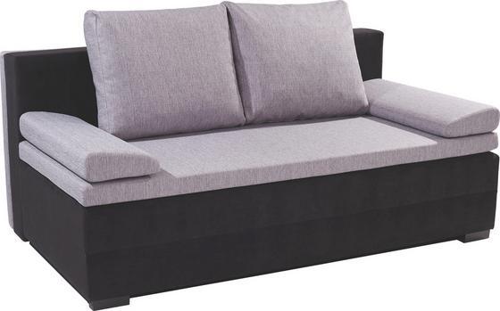 Schlafsofa Lilly 2 - Schwarz/Grau, MODERN, Textil (200/95/110cm)