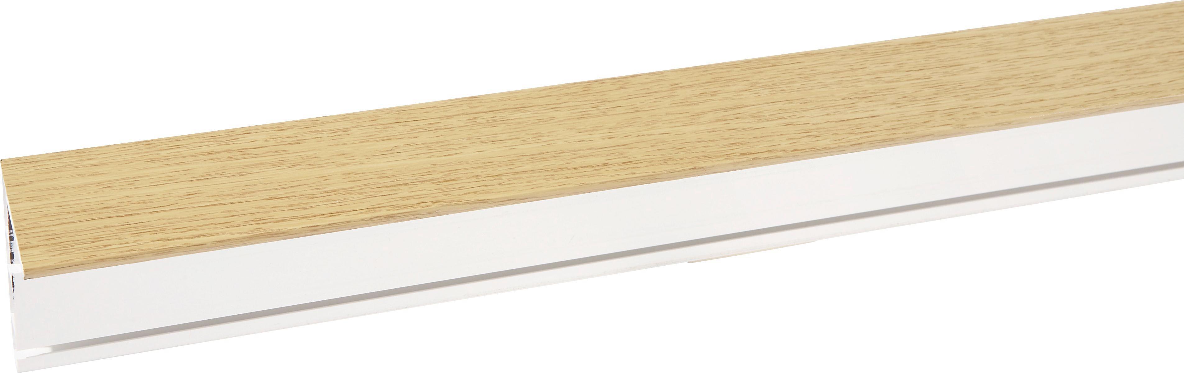 Függönysín Tölgy Színben - tölgy színű/fehér, konvencionális, műanyag (200/5/7.5cm) - MÖBELIX