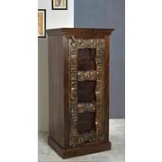 Schrank Leon B: 55 cm Recyclingholz - Braun/Bronzefarben, Basics, Holz (55/120/45cm)