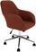 Drehstuhl Melbourne 57,5cm Braun - Chromfarben/Braun, MODERN, Kunststoff/Textil (57,5/84,5-94,5/58,5cm) - Luca Bessoni