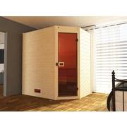 Sauna Valida Eck 1 Gt 189x139 - Naturfarben, MODERN, Glas/Holz (189/203,5/139cm)