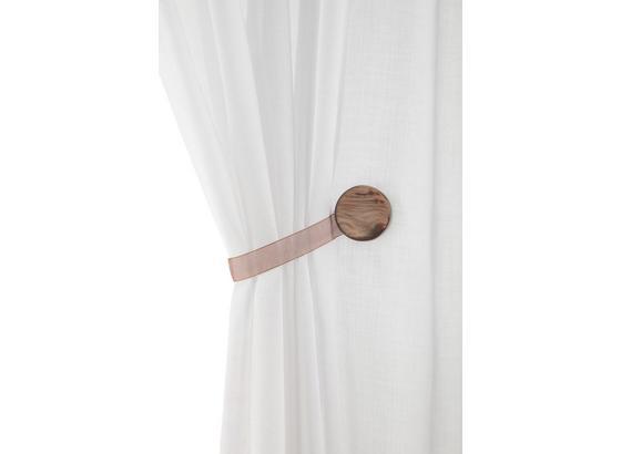 Dekoračná Spona Perlmutt - sivá/biela, textil (4cm) - Mömax modern living