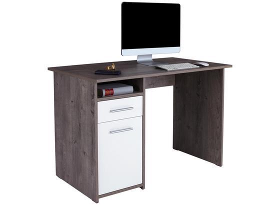 Psací Stůl Palermo - bílá/barvy dubu, Moderní, kompozitní dřevo (110/74/60cm)
