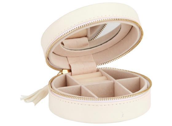 Šperkovnička Java - biela, Basics, textil/prírodné materiály (10.5/4.5cm)