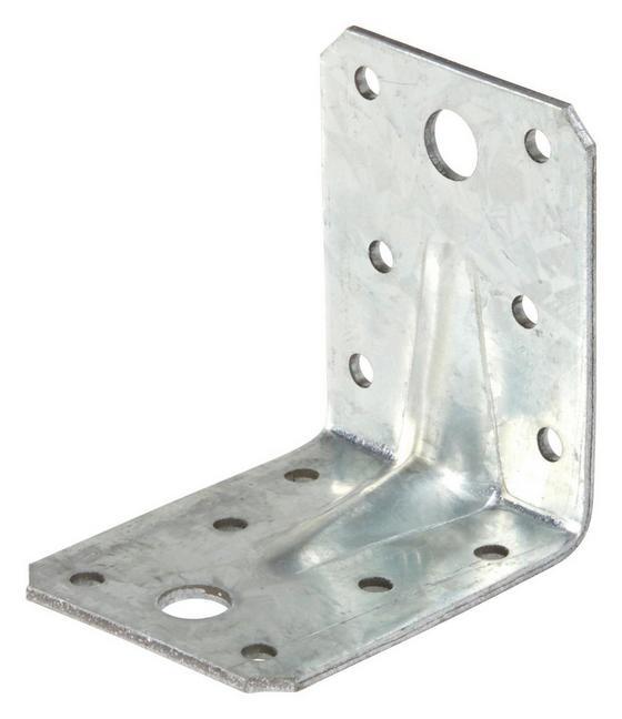 Winkelverbinder B/l: ca. 5,5/7 cm - Alufarben, KONVENTIONELL, Metall (5,5/7cm)