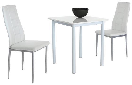 Jídelní Sestava Single G - bílá, Moderní, kov/dřevěný materiál (70/75/70cm)