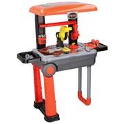 Kinderwerkbank Eddy Toys - Orange/Grau, MODERN, Kunststoff (24/15/39cm)