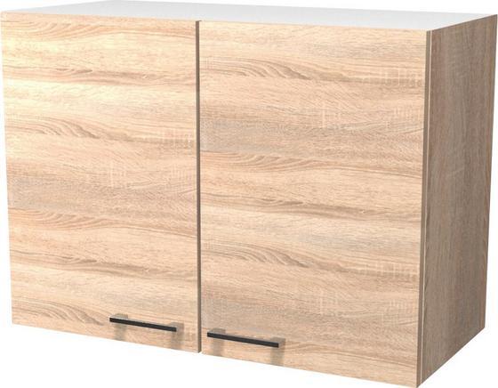 Horná Kuchynská Skrinka Samoa  H 80 - farby dubu/biela, Konvenčný, drevený materiál (80/54/32cm)