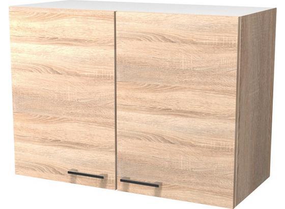 Kuchyňská Horní Skříňka Samoa  H 80 - bílá/barvy dubu, Konvenční, kompozitní dřevo (80/54/32cm)