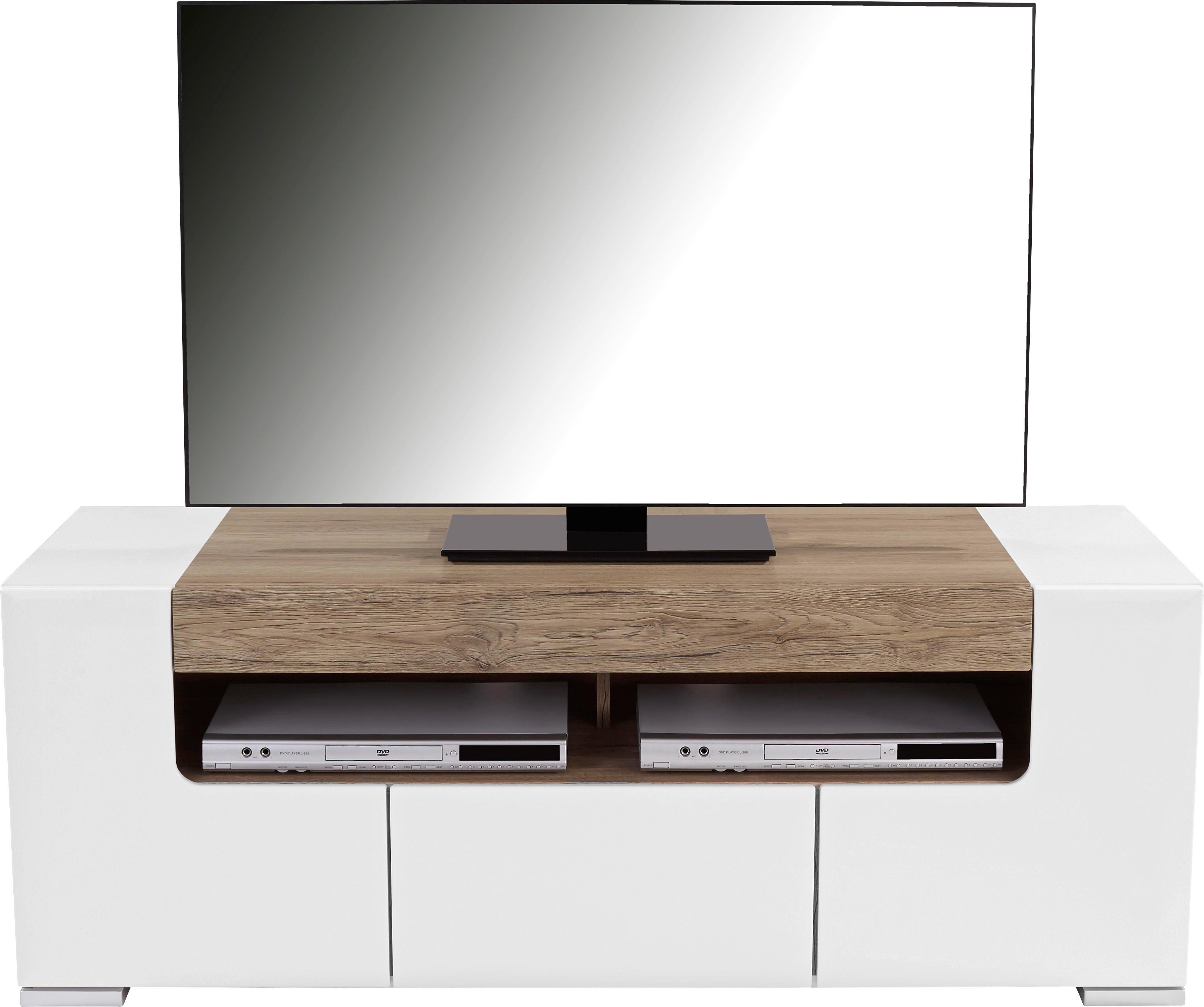 Tv - Elem Toronto - tölgy színű/fehér, modern, faanyagok (140/53/45,2cm) - OMBRA
