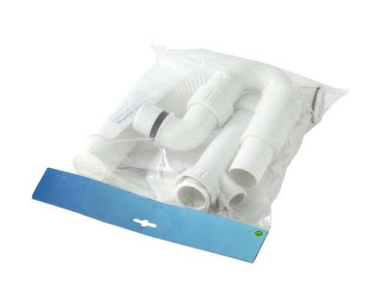 Mosogatószifon Szett Műanyag - Fehér, modern, Műanyag