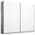Schwebetürenschrank Belluno B:226cm Weiß/ Stone Grey Dekor - Weiß/Grau, MODERN, Holzwerkstoff (226/210/62cm)