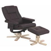 Relax Fotel Star - barna, modern, textil/fa (78/94/76cm) - JAMES WOOD