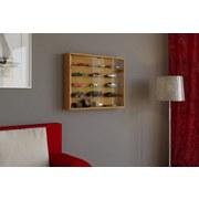 Hängevitrine Mandosa L B: 80 cm Buche Dekor - Transparent/Buchefarben, KONVENTIONELL, Glas/Holzwerkstoff (80/60/10cm)