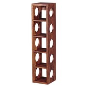 Weinregal Mumbai B: 15 cm Sheesham - Sheeshamfarben, MODERN, Holz (15/70/15cm) - Livetastic