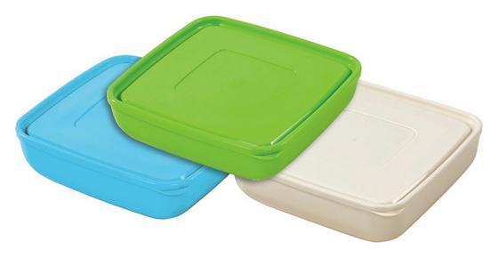 Tárolóedény Ines - krém/szürke, konvencionális, műanyag (23,5/7,8cm) - OMBRA