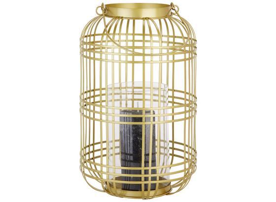 Lampáš Diana - zlatá/číre, kov/sklo (22,5/36cm) - Mömax modern living
