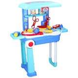 Doktortisch Eddy Toys 2in1 - Blau, MODERN, Kunststoff (24/15/39cm)