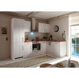 Küchenblock Premium: B: 280 cm Lärche Weiß - Eichefarben/Weiß, MODERN, Holzwerkstoff (280/211/172cm) - MID.YOU