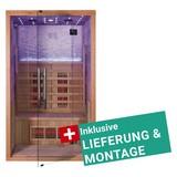Infrarotkabine Göteborg inkl. Lieferung & Montage - Naturfarben, MODERN, Holz (120/200/105cm)