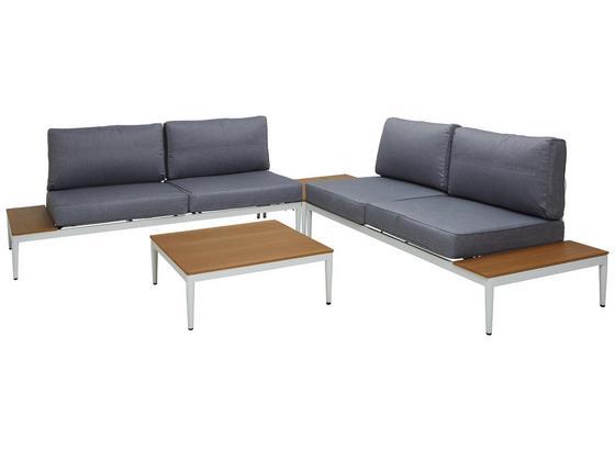 Loungegarnitur Kilada - Weiß/Grau, MODERN, Textil/Metall (287/287cm) - Luca Bessoni