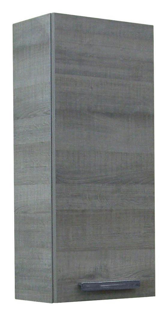 Fackelmann Hängeschrank A-vero - Eichefarben, MODERN, Glas/Holzwerkstoff (35/79,5/21,5cm) - Fackelmann