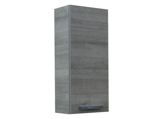 Hängeschrank mit Türdämpfer A-Vero B: 35cm Graueiche Dekor - Eichefarben, MODERN, Glas/Holzwerkstoff (35/79,5/21,5cm) - MID.YOU