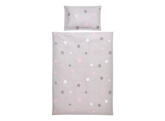 Povlečení Dětské Scarlett -ext- - šedá/růžová, textil - Mömax modern living